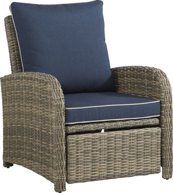 Charlotte Harbor Gray Outdoor Recliner Chair