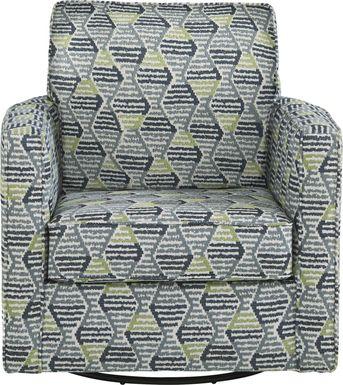 Charlton Street Blue Accent Swivel Chair