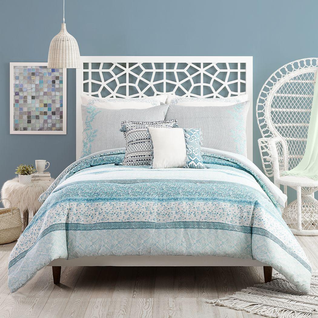 Charole Blue 3 Pc King Comforter Set