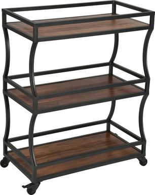 Charterstone Brown Bar Cart