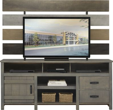 Chattanooga II Gray 2 Pc Wall Unit