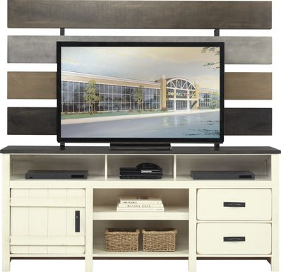 Chattanooga II White 2 Pc Wall Unit