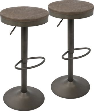 Chaz Brown Barstool (Set of 2)