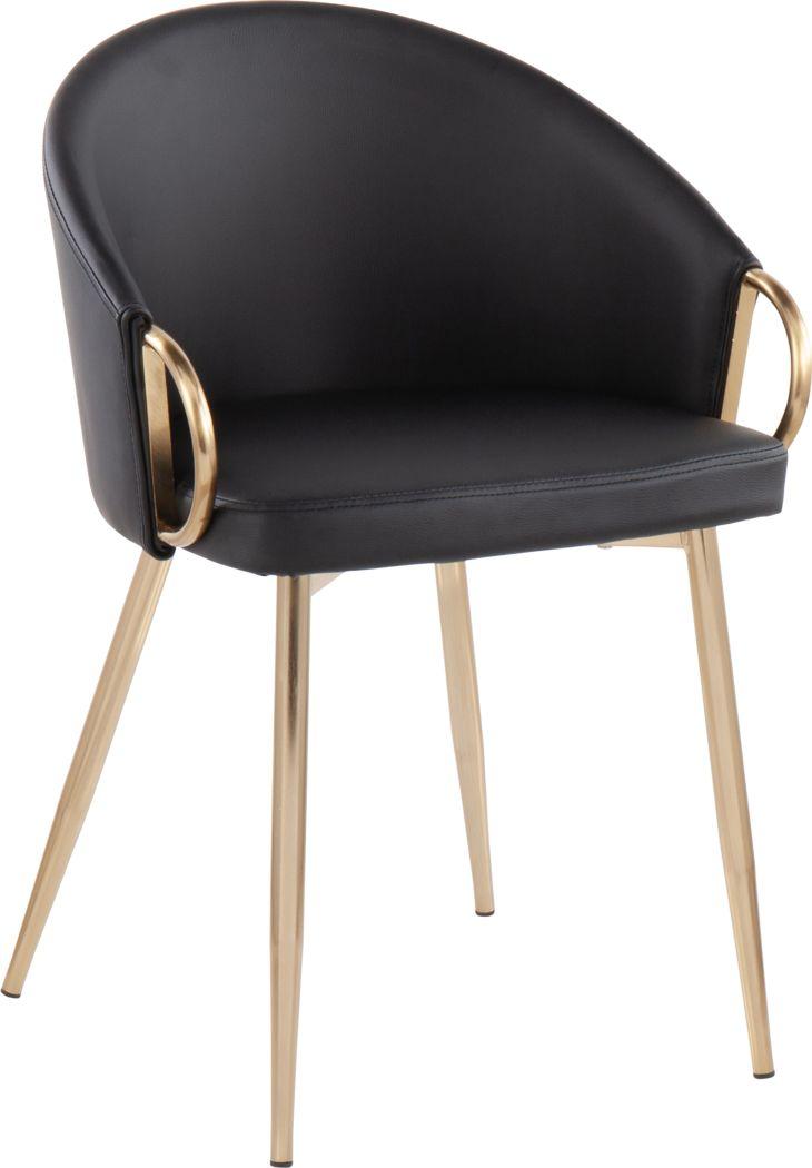 Cherlyn Black Gold Side Chair