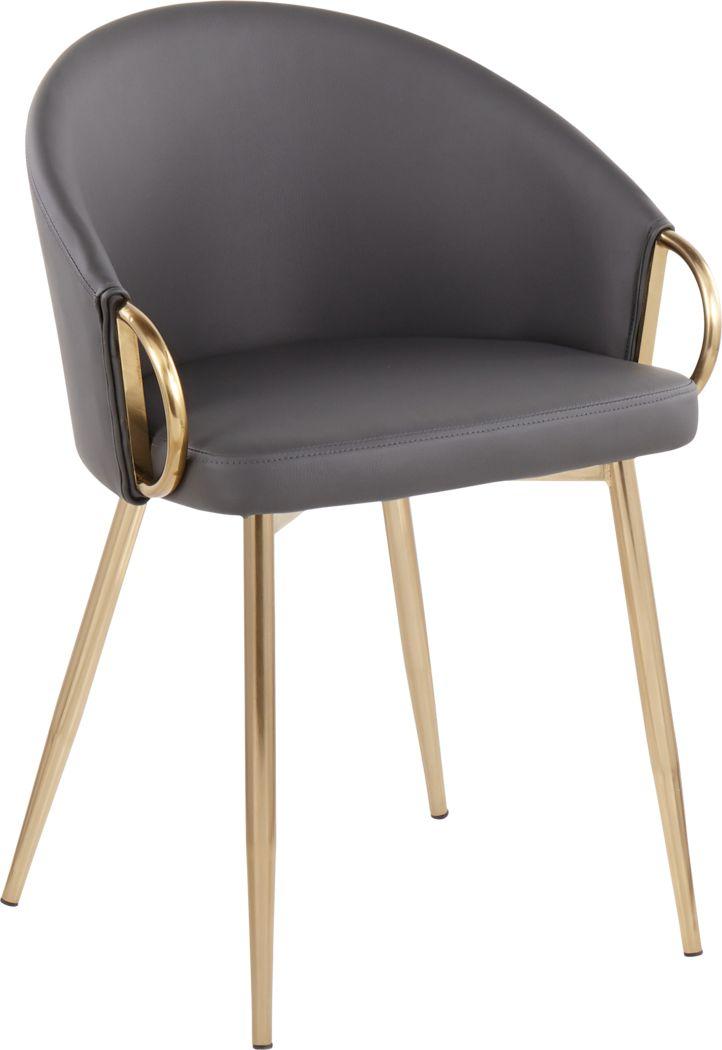 Cherlyn Gray Gold Side Chair