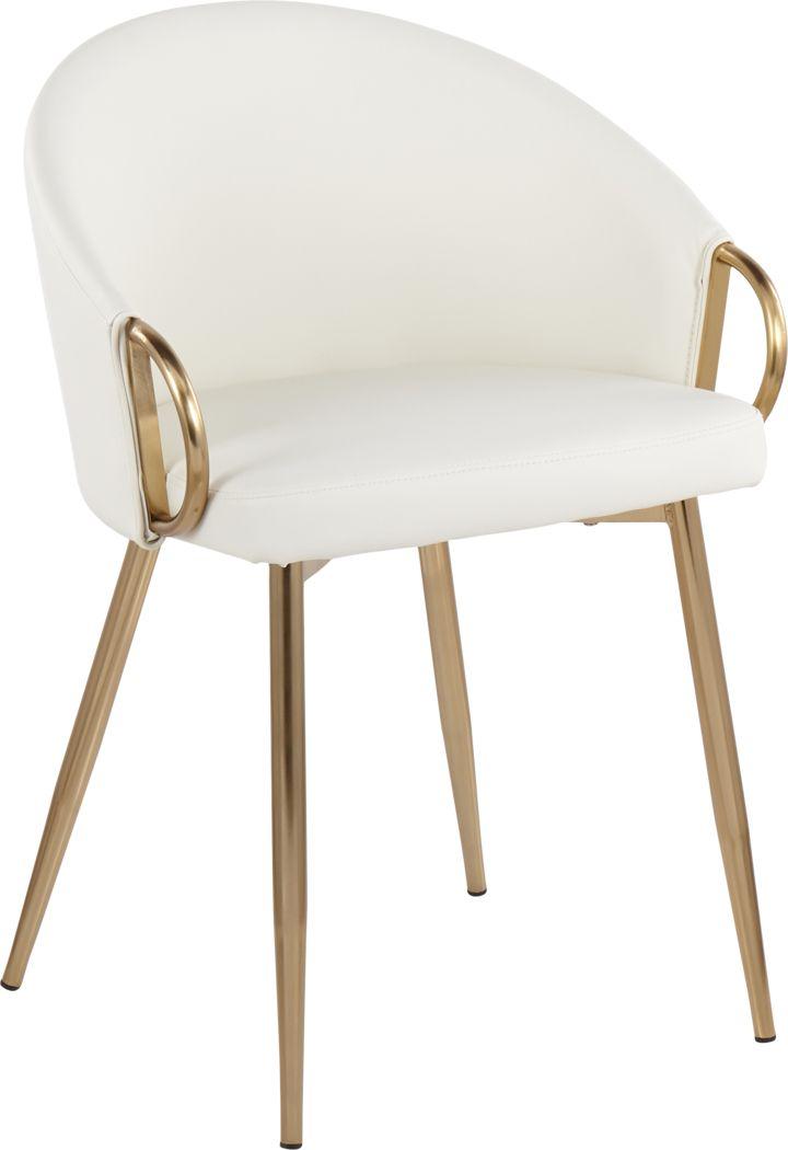 Cherylyn White Gold Side Chair