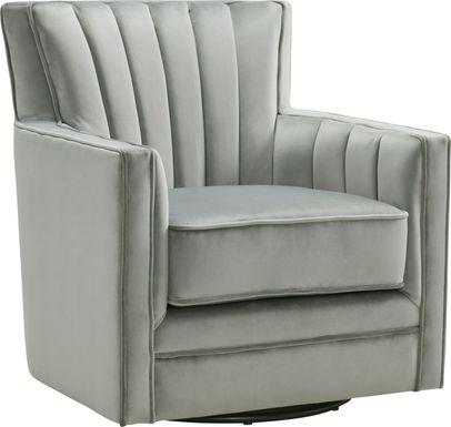 Chippenham Gray Accent Swivel Chair