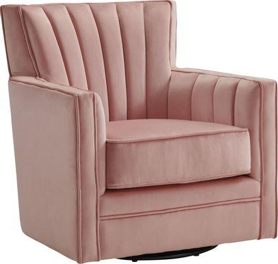 Chippenham Pink Swivel Accent Chair