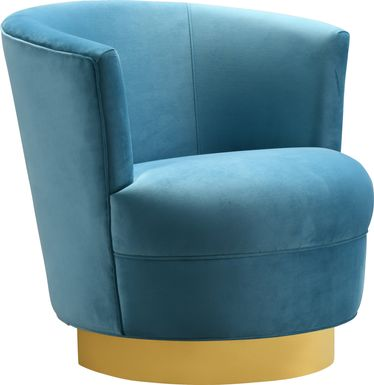 Chisholm Blue Swivel Chair