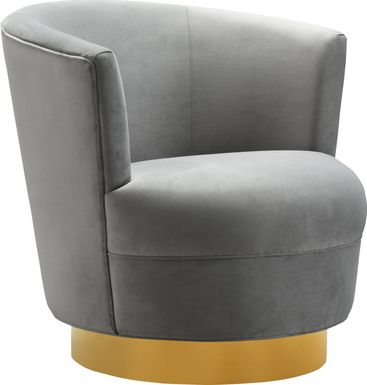 Chisholm Gray Swivel Chair