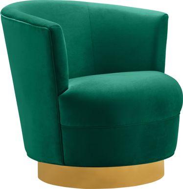 Chisholm Green Swivel Chair