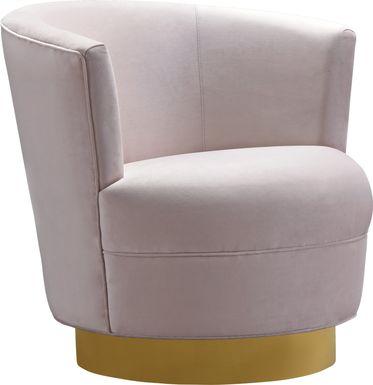 Chisholm Pink Swivel Chair