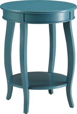 Chloris Blue Accent Table