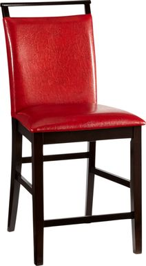 Ciara Red Counter Height Stool