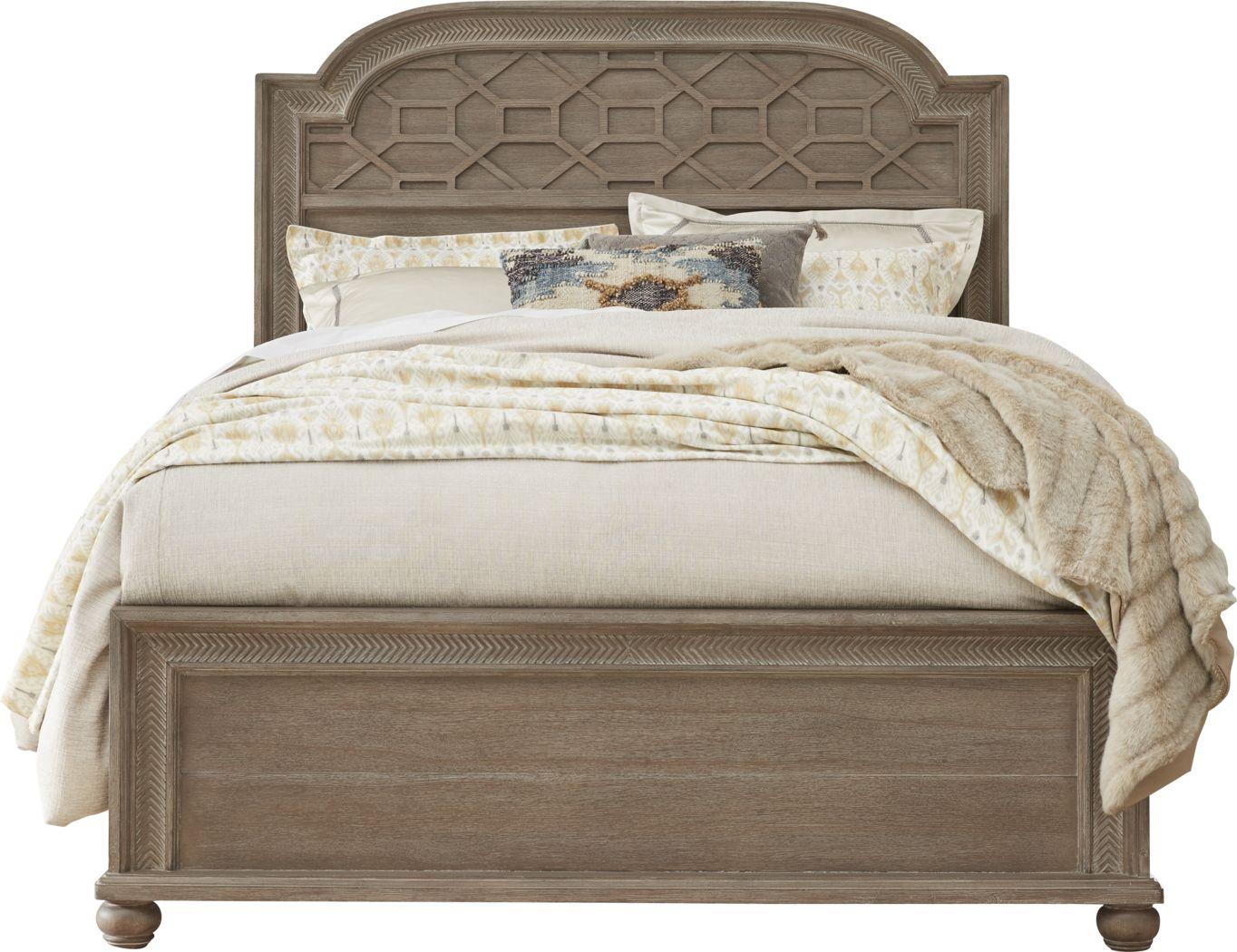Cindy Crawford Home Abbington Gray 3 Pc King Panel Bed
