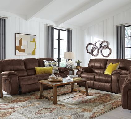 Cindy Crawford Home Alpen Ridge Brown 2 Pc Reclining Living Room