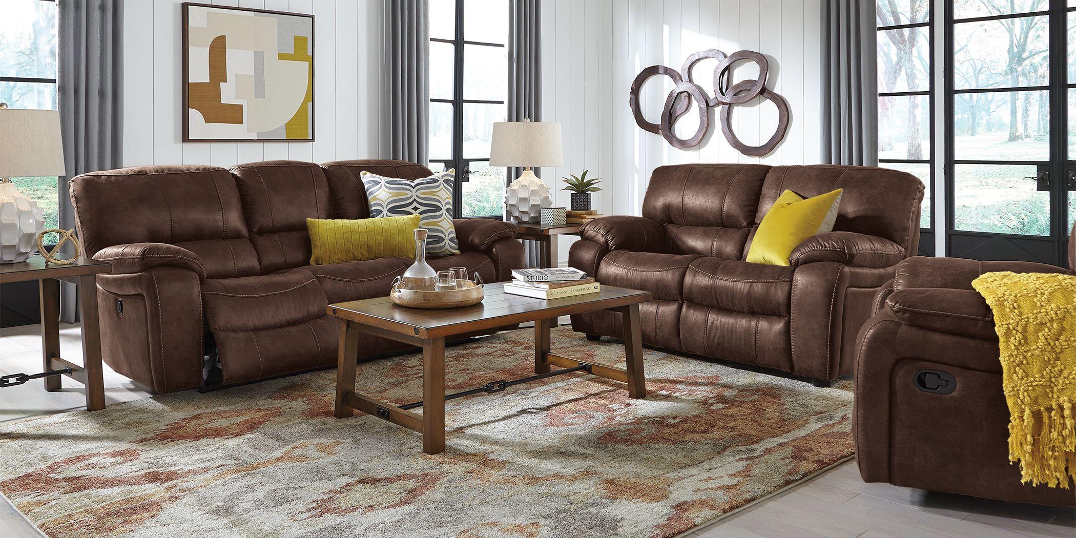 Cindy Crawford Home Alpen Ridge Brown 2 Pc Reclining Living Room