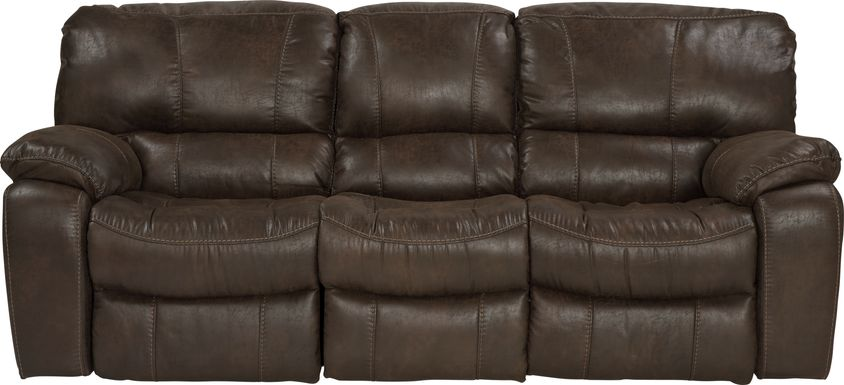 Cindy Crawford Home Alpen Ridge Brown Power Reclining Sofa