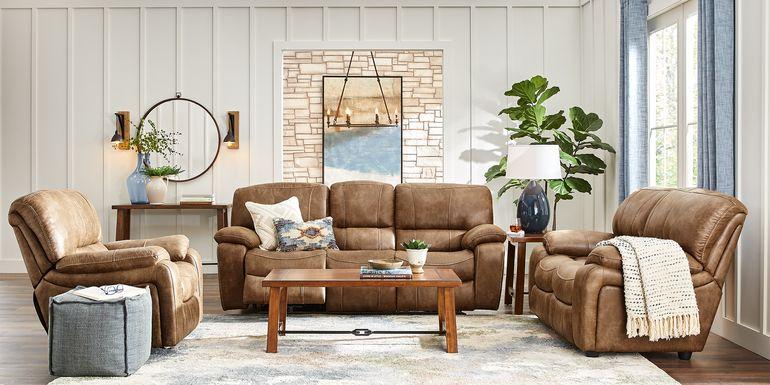Cindy Crawford Home Alpen Ridge Tan 2 Pc Reclining Living Room