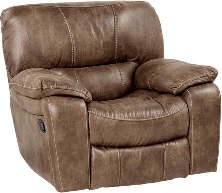 Cindy Crawford Home Alpen Ridge Tan Glider Recliner