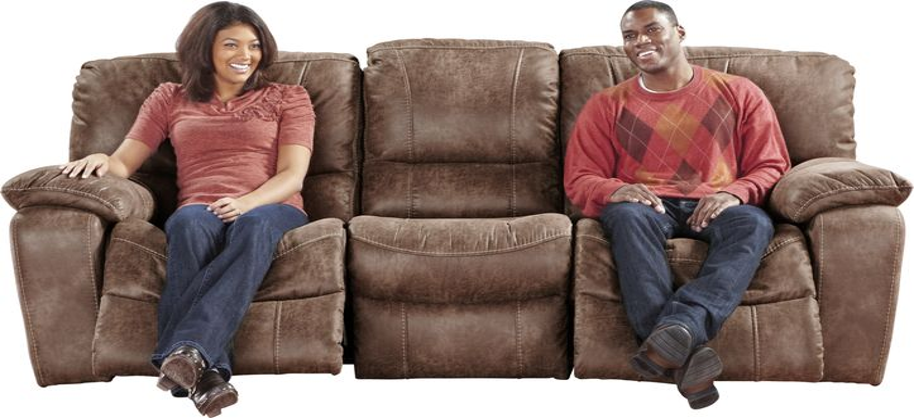 Cindy Crawford Home Alpen Ridge Tan Power Reclining Sofa