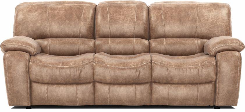 Cindy Crawford Home Alpen Ridge Tan Reclining Sofa