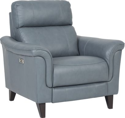 Cindy Crawford Home Avezzano Blue Dual Power Recliner