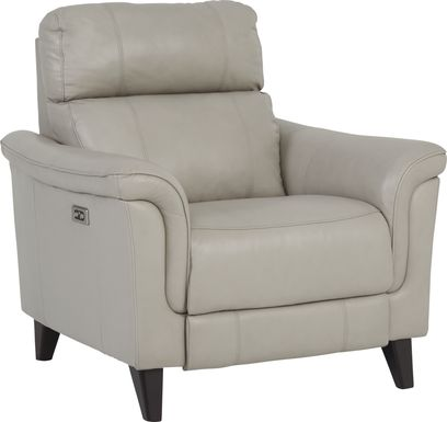 Cindy Crawford Home Avezzano Stone Dual Power Recliner