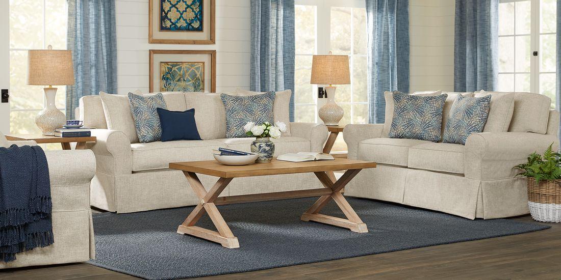 5 piece textured living room set