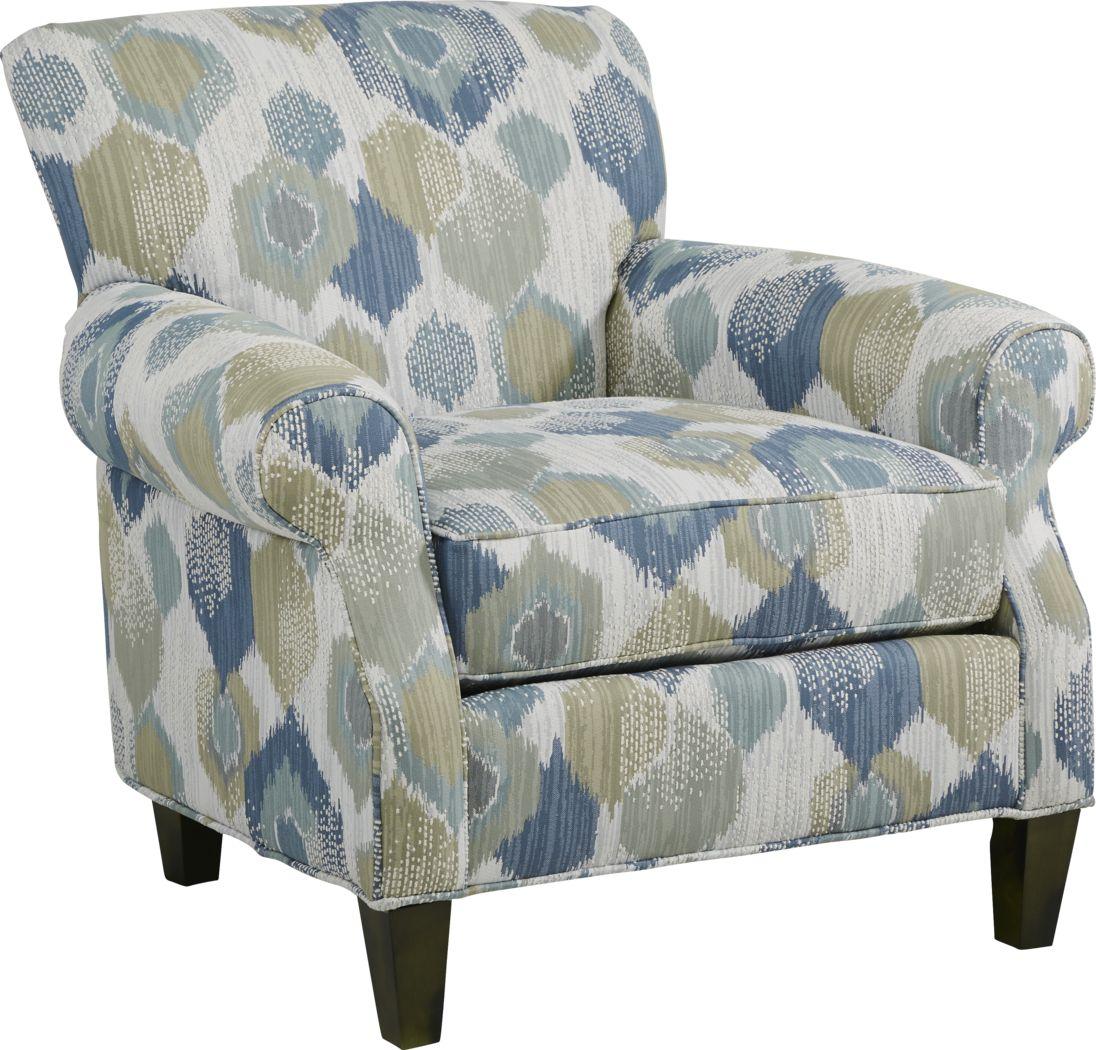 Cindy Crawford Home Beachside Walk Blue Accent Chair