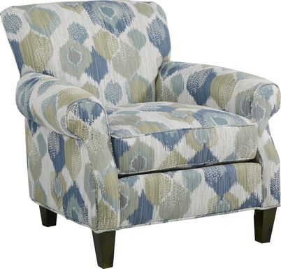 Cindy Crawford Home Beachside Walk Blue Accent Chair