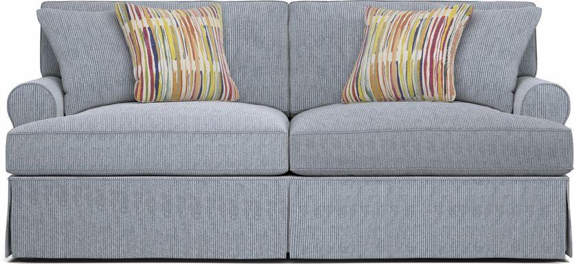 Cindy Crawford Home Beachside Walk Blue Denim Sofa