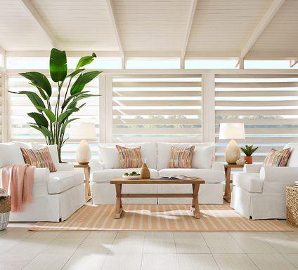Cindy Crawford Home Beachside Walk White Denim 7 Pc Living Room