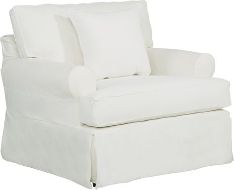Cindy Crawford Home Beachside Walk White Denim Chair