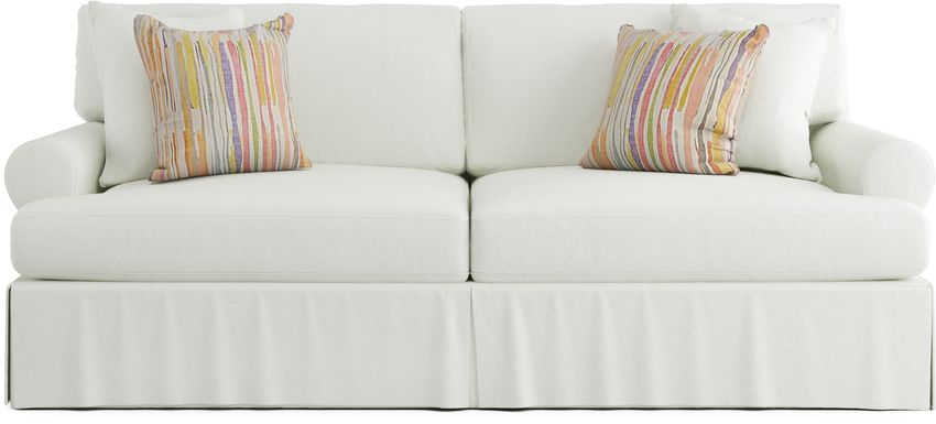 Cindy Crawford Home Beachside Walk White Denim Sofa