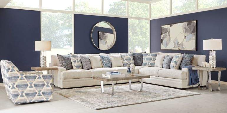 Cindy Crawford Home Bedford Park Ivory 4 Pc Sectional