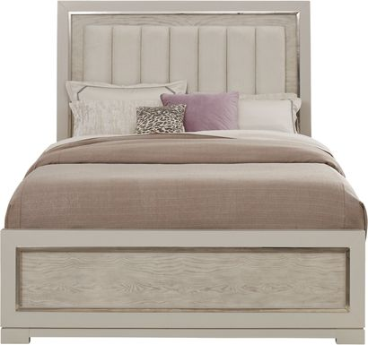 Cindy Crawford Home Bel Air Ivory 3 Pc King Panel Bed