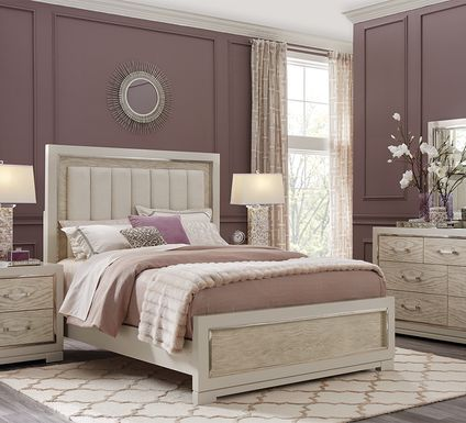 Cindy Crawford Home Bel Air Ivory 7 Pc King Panel Bedroom