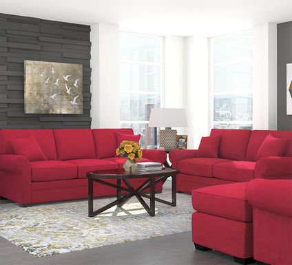 Cindy Crawford Home Bellingham Cardinal Microfiber 5 Pc Living Room