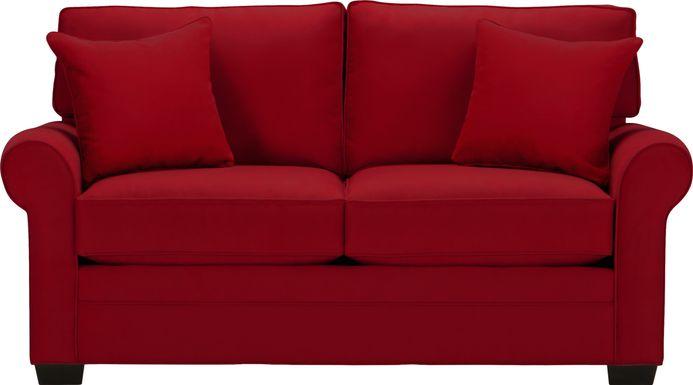 Cindy Crawford Home Bellingham Cardinal Microfiber Loveseat