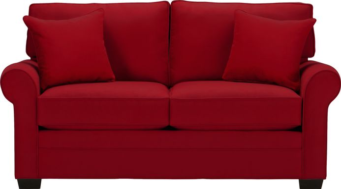 Cindy Crawford Home Bellingham Cardinal Microfiber Loveseat