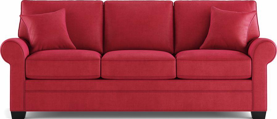 Cindy Crawford Home Bellingham Cardinal Microfiber Sofa
