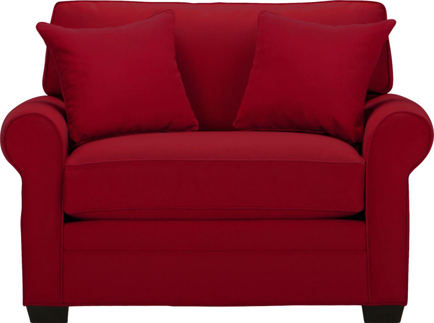 Cindy Crawford Home Bellingham Cardinal Microfiber Sleeper Chair