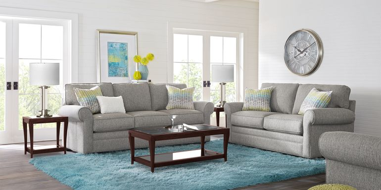 Cindy Crawford Home Bellingham Gray Textured 5 Pc Living Room