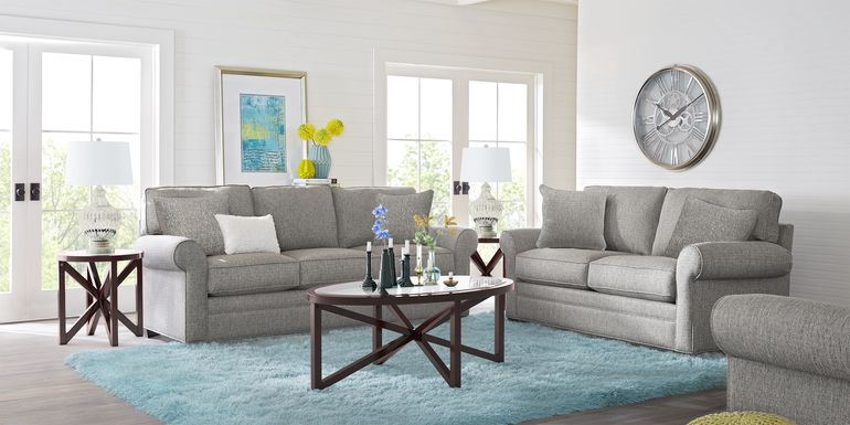 Cindy Crawford Home Bellingham Gray Textured 7 Pc Living Room