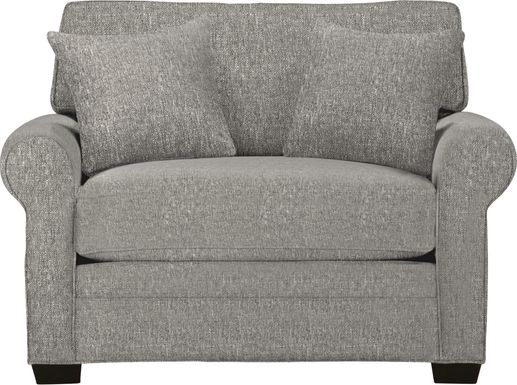 Cindy Crawford Home Bellingham Gray Textured Chair