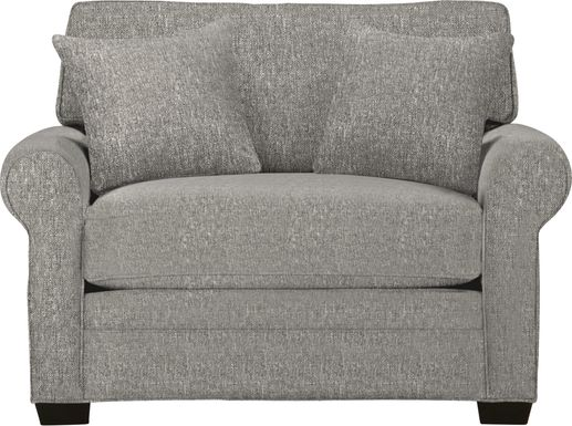 Cindy Crawford Home Bellingham Gray Textured Gel Foam Sleeper Chair