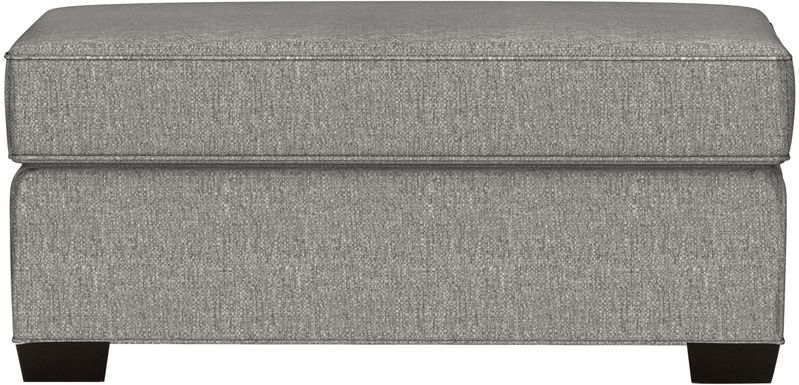 Cindy Crawford Home Bellingham Gray Textured Ottoman