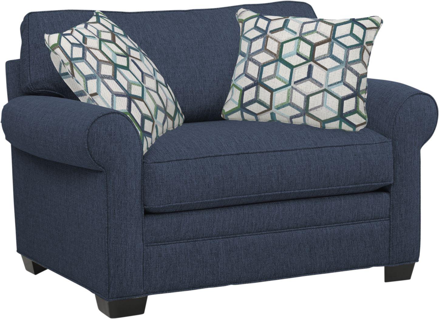 Cindy Crawford Home Bellingham Midnight Textured Gel Foam Sleeper Chair