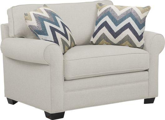 Cindy Crawford Home Bellingham Off-White Textured Gel Foam Sleeper Chair